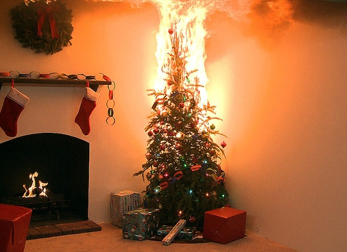 christmas-tree-fire - Top 12 Christmas Tree And Lighting Safety Tips